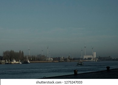 Antwerp, Belgium, city, November 18, 2018 10:30: illustrative editorial photograph of the historical section of Antwerp, Belgium