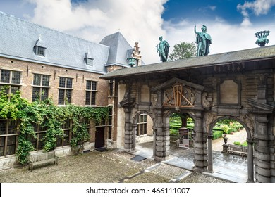 ANTWERP, BELGIUM - JULY 5, 2016 : Exterior view of Peter Paul Rubens House. Rubens is famous Flemish Baroque painter and lived in this building until his death.