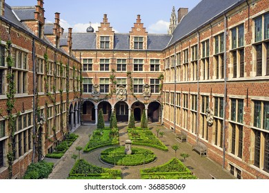 ANTWERP, BELGIUM - MAY 10, 2006: Old Plantin-Moretus printing plant and publishing house dating from the Renaissance and Baroque periods, UNESCO World Heritage Site
