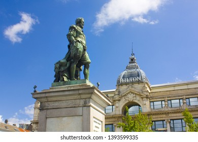 ANTWERP, BELGIUM - May 2, 2019: Monument to Peter Paul Rubens on the Groenplaats in Antwerp