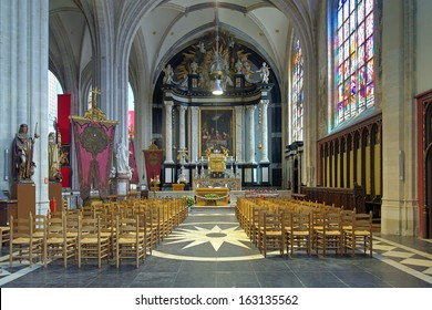 ANTWERP, BELGIUM - MAY 24: Sacrament chapel in Cathedral of Our Lady on May 24, 2013 in Antwerp, Belgium. The chapel contains the Tabernacle (around 1710) by the sculptor Hendrik Frans Verbrugghen.