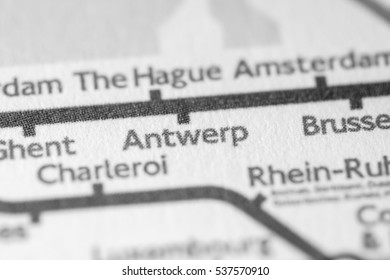 Antwerp, Belgium on a geographical map.