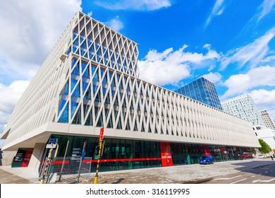 ANTWERP, BELGIUM - SEPTEMBER 03, 2015: Artesis Plantijn Hogeschool Antwerpen. It is a university with 6 faculties and about 9000 students