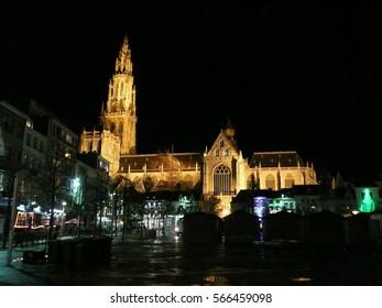 Antwerp / Antwerp buildings and architecture / picture showing the unique architecture of Antwerp, taken in October 2013.
