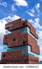 ANTWERP,BELGIUM - May 13: The MAS museum in Antwerp May, 2013 in Antwerp, Belgium. This museum is nominated for the European Museum of the Year Award  2013.
