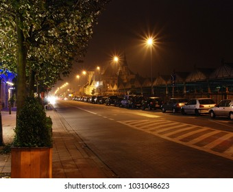 Antwerpen, Belgium, Evening streets