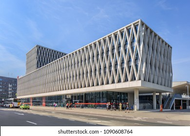 ANTWERP-MAY 9, 2018. AP University building with several campuses in Antwerp center, the economic heart of Belgium thanks to the international port and has also a world famous diamond industry.