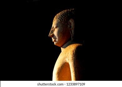 Anuradhapura - Sri Lanka - Circa 2013 - Samadhi Buddha at night