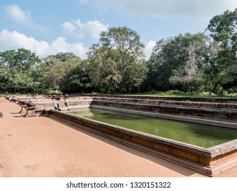 Anuradhpura, Shri Lanka - January 2019: The twin ponds or twin baths are situated in the ancient king's city Anuradhapura, Shri lanka.