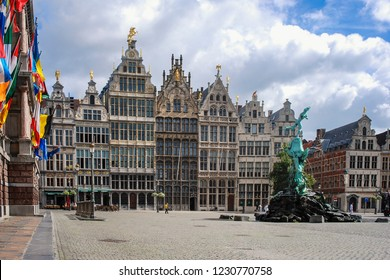 Anvers - Belgium - 07-07-2010:  Grand Place (or Grote Markt), the main square of Antwerpen