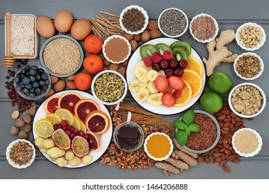 Anxiety and stress relieving health food also with herbs & spice used in herbal medicine that help with relaxation and reduce chronic fatigue and depression. High in omega 3, antioxidants & vitamins.