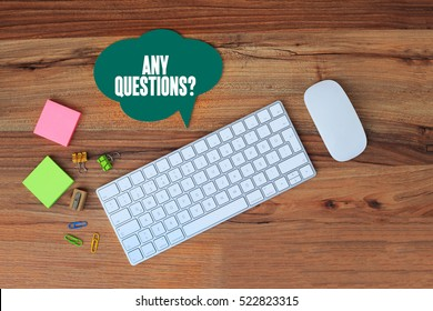 Any Questions?, Business Concept