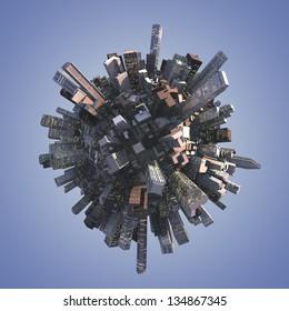 Any nice panorama illustration of a skyline
