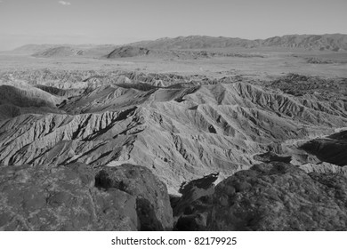 Anza-Borrego Desert State Park. Badlands at Fonts Point