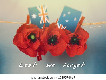 anzac day - Australian and New Zealand national public holiday card