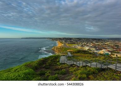 ANZAC Memorial Walk and Bar Beach in Newcastle NSW Australia.