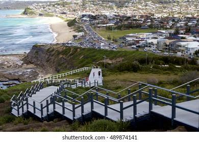 Anzac memorial Walk leading down to Bar Beach, Newcastle, NSW Australia
