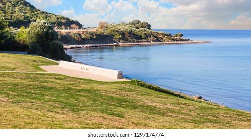 Anzac Military Cemetery in Gallipoli Peninsula - Canakkale, Turkey