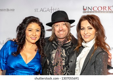 """Anzu Lawson, Chris Wyse, Nadia Lanfranconi  attend Uncork'd Entertainment's """"St Agatha"""" Premiere at Ahrya Fine Arts Theater, Beverly Hills , CA on February 6th, 2019"""