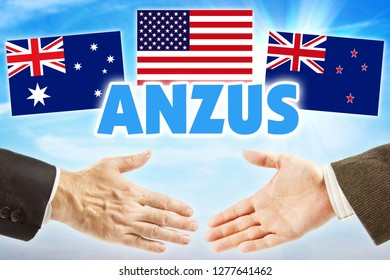 ANZUS. Political association of Australia, New Zealand and United States of America