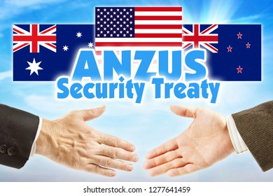 ANZUS, Security treaty. Political union of Australia, New Zealand and United States of America