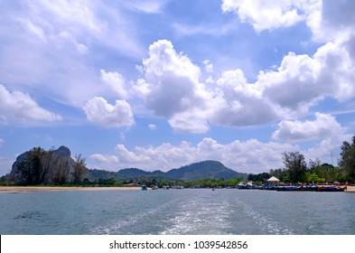 Ao Nang, Thailand - April 29, 2015. Nopparat Thara Pier.