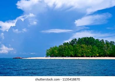 Ao Nang, Thailand - October 24, 2014: View of Koh Poda in the Andaman Sea, off Ao Nang.