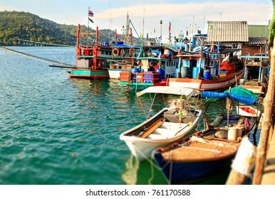 Ao Salad harbor of the Ko Kut island in Thailand