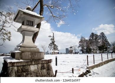 Aobayama Park at view point in Sendai, Miyagi Prefecture, Japan