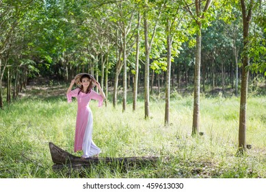 Ao-dai is famous traditional costume for woman in VIetnam.