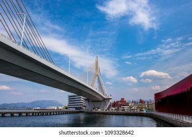 Aomori Bay Bridge and Warasse