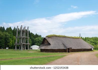 Aomori, Japan. 17 Jul, 2017- Sannai-Maruyama site in Aomori, Aomori Prefecture, Japan. It is a Jomon period archaeological site, a famous historic site.