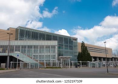 Aomori, Japan. 17 Jul, 2017- Shin-Aomori Station in Aomori, Aomori Prefecture, Japan.