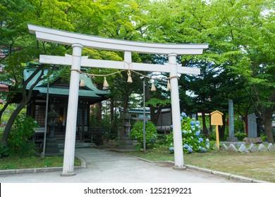 Aomori, Japan 17 Jul, 2017- Utou shrine in Aomori, Aomori Prefecture, Japan. a famous historic site.