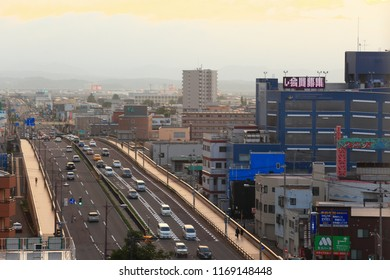 Aomori, Japan June 21,2018: Cityscape of Aomori, Japan. Aomori is the northernmost prefectural capital city on Honshu Island.