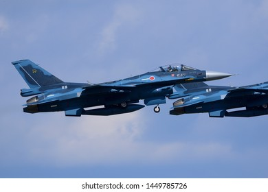 Aomori, Japan - September 07, 2014:Japan Air Self-Defense Force F-2A multirole fighter.