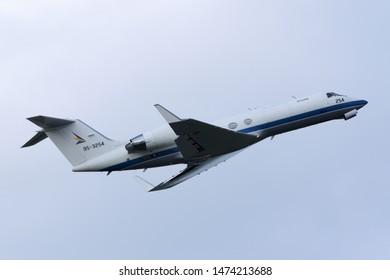 Aomori, Japan - September 07, 2014:Japan Air Self Defense Force Gulfstream U-4 Utility aircraft.