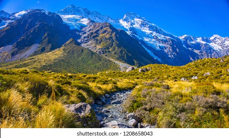 Aoraki/Mount Cook National Park is in the South Island of New Zealand, near the town of Twizel.