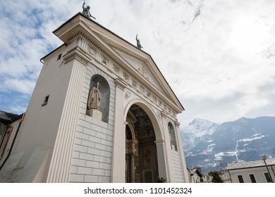 Aosta Cathedral, Aosta, Valle d'Aosta, Italy