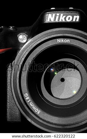aosta italy 16th april 2017 nikon stock photo edit now 622320122