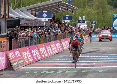 Aosta - May 25 2019: Giro d'Italia 2019 - Stage 14