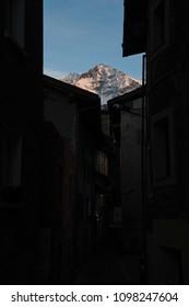 Aosta in the spring evening, Aosta, Valle d'Aosta, Italy