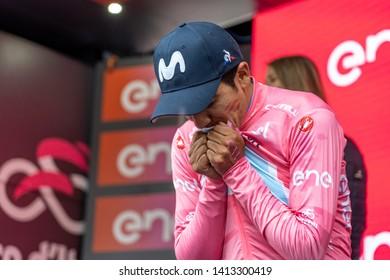 Aosta Valley Italy - May 2019: Giro d'Italia 2019 - Stage 14