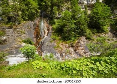 Apa Spanzurata waterfall in Latoritei Valley in Romania