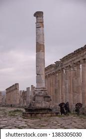 APAMEA, SYRIA - JANUARY 2010: The ruins of Apamea in Syria.
