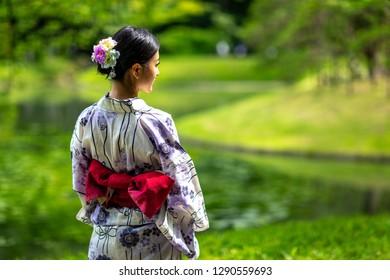 apanese yukata and kimono style