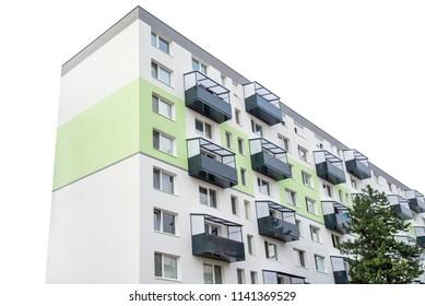 Apartament building. Condominium ownership concept