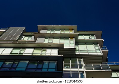 Apartament building. Low rise apartment building on sunny day in British Columbia, Canada