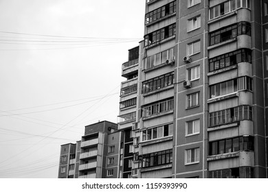 Apartament house of Soviet building in the city