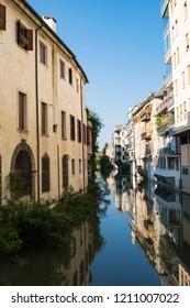apartaments along canal in Padova, Italy